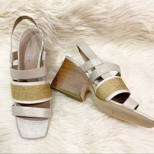 Donald Pliner | Mae | Square Toe Sandal Wedge